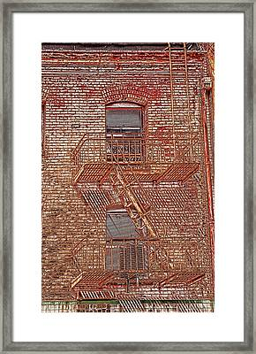 Framed Print featuring the photograph Fire Escape by Marie Leslie