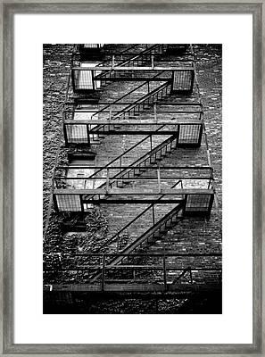 Fire Escape Framed Print by Odd Jeppesen