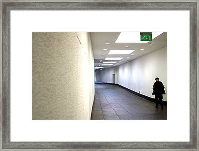 Fire Exit Framed Print by Jez C Self