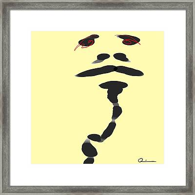 Fire Eyes Framed Print