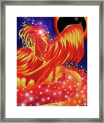 Fire Fairy Framed Print
