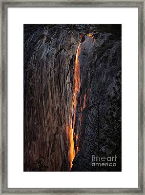Fire Fall Framed Print
