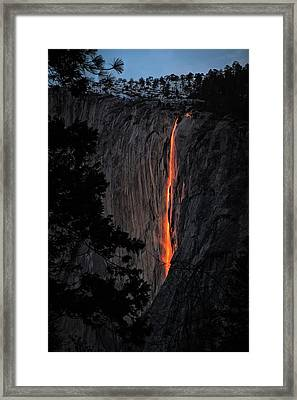 Fire Fall Framed Print by Edgars Erglis