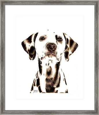 Fire Fighter's Best Friend Framed Print by Sheryl Unwin