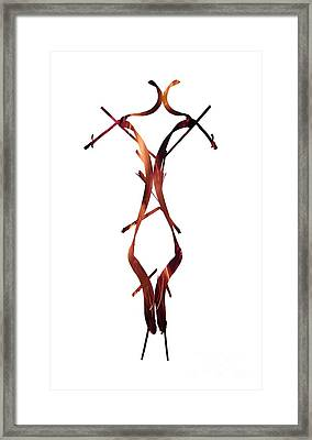 Fire Figure Framed Print by Prar Kulasekara
