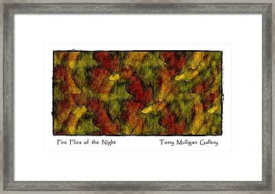 Fire Flies Of The Night Framed Print by Terry Mulligan