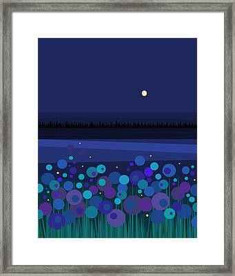 Fire Flies Framed Print by Val Arie