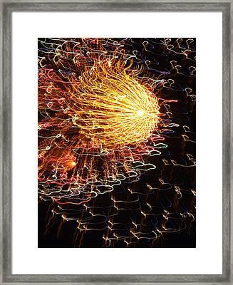 Fire Flower Framed Print by Karen Wiles