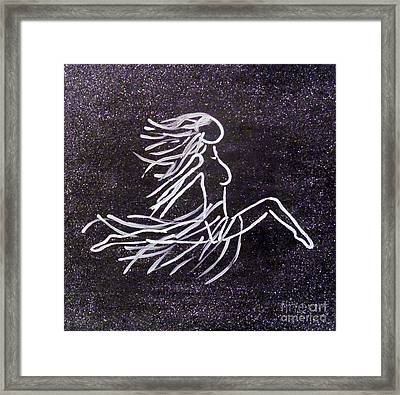 Fire Fly In Black And White Framed Print by Jilian Cramb - AMothersFineArt