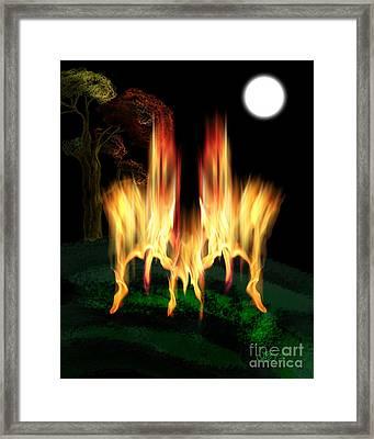 Fire Fly Framed Print