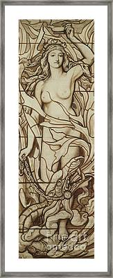 Fire Framed Print by Frederick G Smith