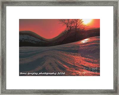 Fire Frost Framed Print