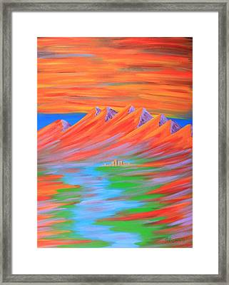 Fire Framed Print by Gary Rowell