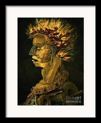 Gold Chain Framed Prints