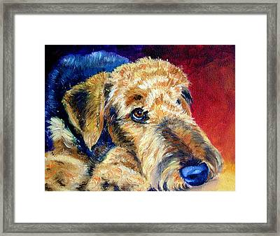Fire Glow Framed Print by Lyn Cook