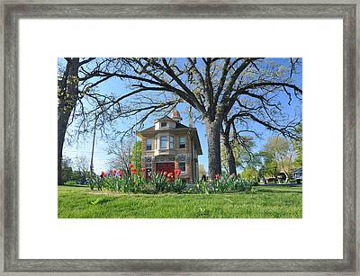 Fire House In The Park Framed Print