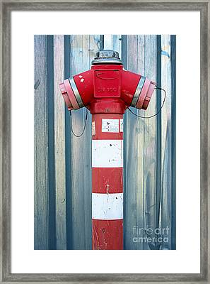 Fire Hydrant Steel Wall Framed Print