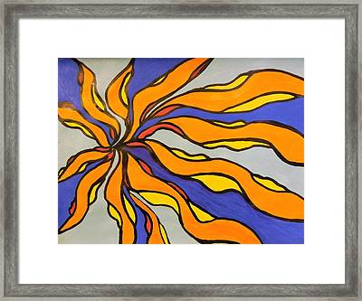 Fire, Ice, And Water Framed Print