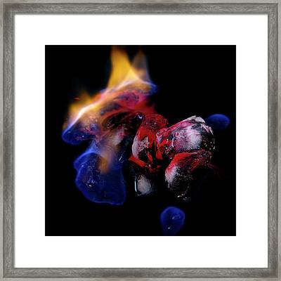 Framed Print featuring the photograph Fire, Ice And Water by Rico Besserdich