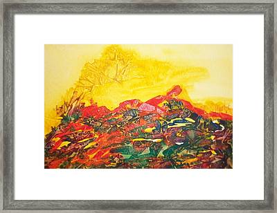 Fire In Heart Framed Print