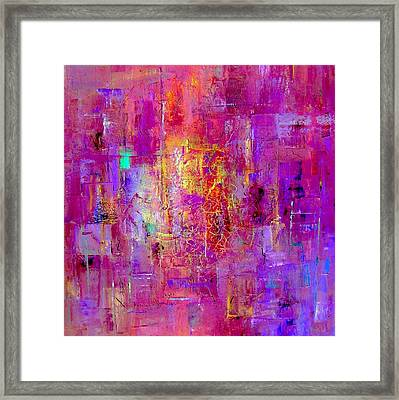 Fire In My Heart Abstract Framed Print