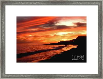 Fire In Sky Framed Print by Joann Vitali