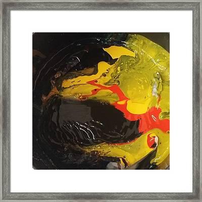 Fire In Soot Framed Print by Gyula Julian Lovas