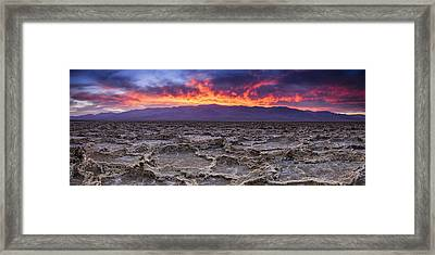 Fire In The Desert Framed Print