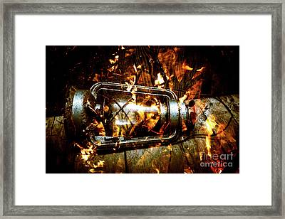 Fire In The Hen House Framed Print