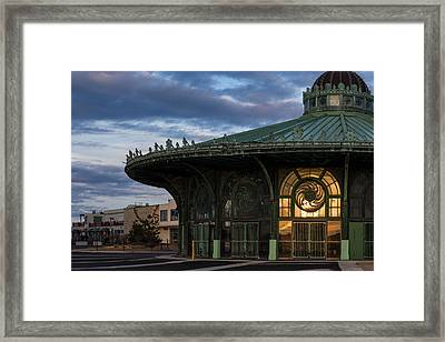 Fire In The Hole Framed Print by Allison Coffin