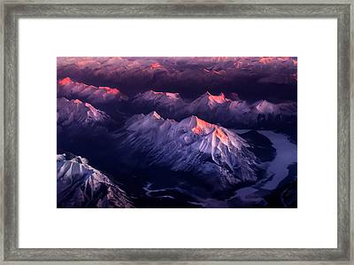 Fire In Ice Framed Print