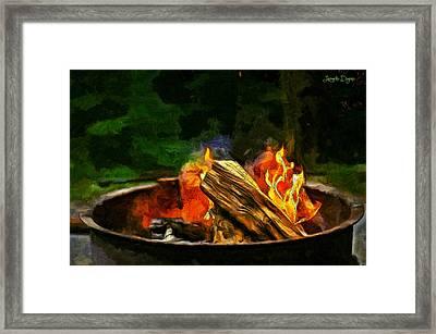 Fire In The Pot - Da Framed Print