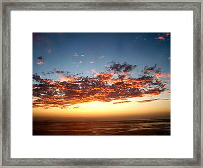 Fire In The Ski  Framed Print by The Kepharts