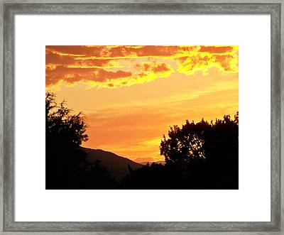 Fire In The Sky 1 Framed Print by Brian  Commerford