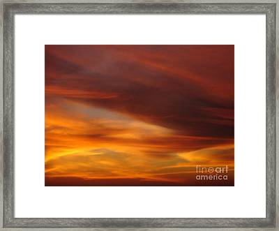 Fire In The Sky 2 Framed Print by Chad Natti