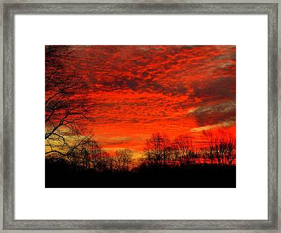 Fire In The Sky Framed Print by Aron Chervin