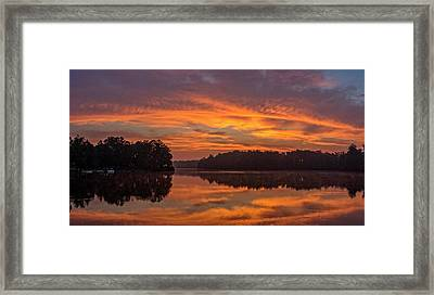 Fire In The Sky Framed Print by Barbara Houston