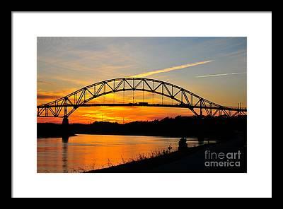 Sagamore Bridge Framed Prints