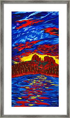 Fire In The Sky Framed Print by Clark Sheppard