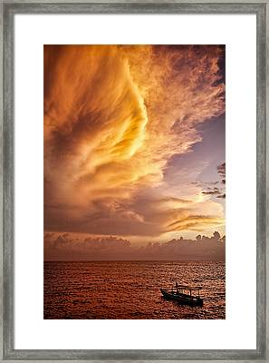 Fire In The Sky Framed Print by Dave Bowman