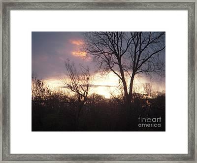 Fire In The Sky Framed Print by Deborah Finley