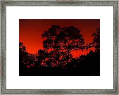 Fire In The Sky Framed Print by Frank Mari