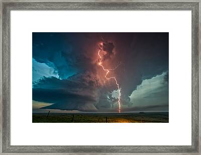 Fire In The Sky. Framed Print