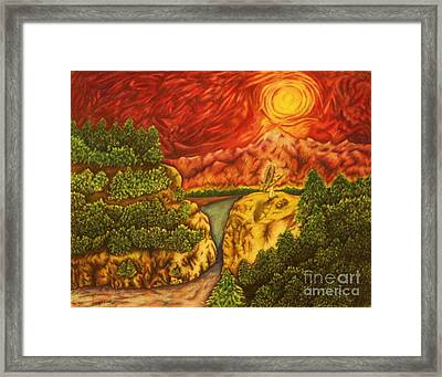 Fire In The Sky Framed Print by Jamey Balester