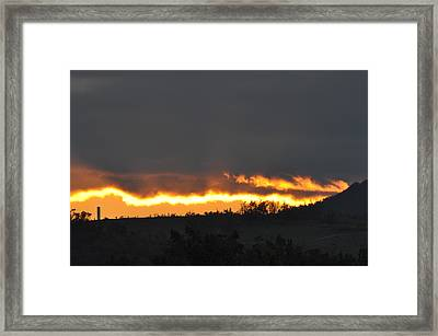 Fire In The Sky Framed Print by Jan Amiss Photography