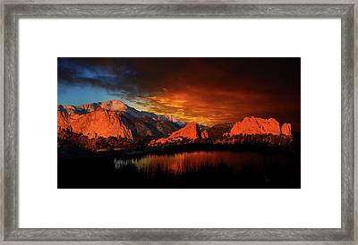 Fire In The Sky Framed Print by John Hoffman