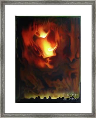 Fire In The Sky Framed Print by Jurek Zamoyski