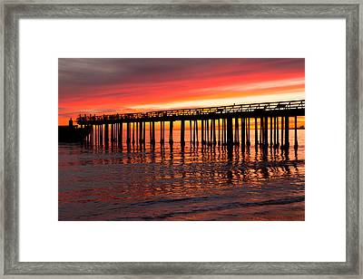 Fire In The Sky Framed Print by Lora Lee Chapman