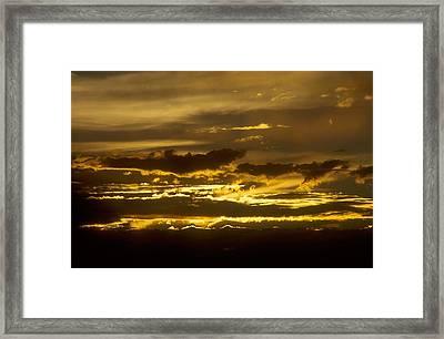 Fire In The Sky Framed Print by Lynard Stroud