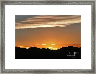 Fire In The Sky Framed Print by Michele Penner